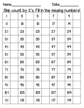 I Know My Number 1-120 (many different printables for number practice1-120)