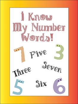I Know My Number Words! 1-12