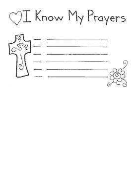 I Know My Prayers Certificates