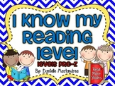 I Know My Reading Level Student Accountability Chart
