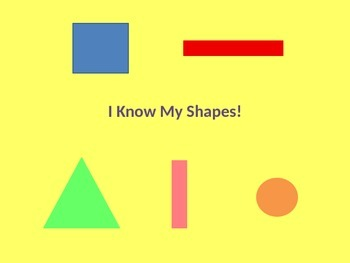I Know My Shapes!- a Pre-writing/pre-drawing Development Activity