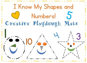 I Know My Shapes and Numbers Playdough Mats