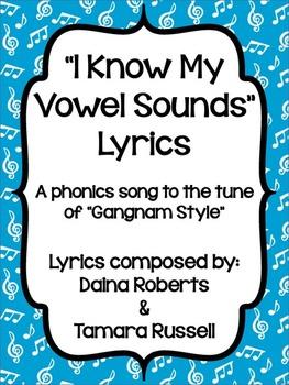 """""""I Know My Vowel Sounds"""" Lyrics {FREEBIE}"""