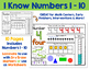 I Know Numbers BUNDLE - Numbers 1-20:  Number Sense and Sk