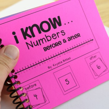 I Know... Numbers Orders Before & After 1-30 Adapted Math Book