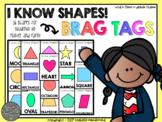 I Know Shapes Brag Tags (16 Individual Shape Brag Tags)