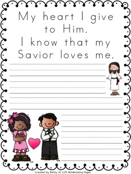 I Know That My Savior Loves Me Tracing, Mini-books, and Copywork