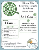 I Know This! 3rd Grade Fractions NF.1.3 NF.A.3 Learning Ta