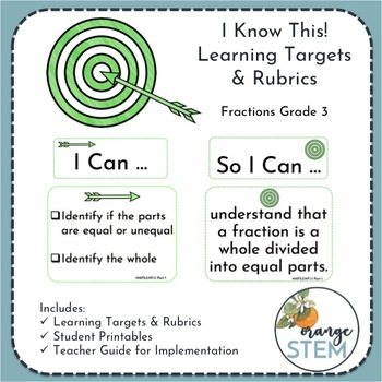 I Know This! Fractions Learning Targets & Rubrics