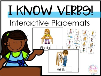 I Know Verbs! Interactive Placemats