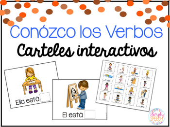 I Know Verbs! Interactive Placemats: Spanish Version