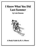 """""""I Know What You Did Last Summer"""" by Lois Duncan: A Study Guide"""