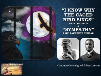 I Know Why the Caged Bird Sings & Sympathy Poems 5-Day Lesson Plan