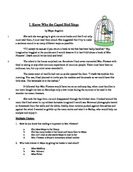 I Know Why the Caged Bird Sings - Literary Text Test Prep