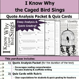 I Know Why the Caged Bird Sings - Quote Analysis & Reading Quizzes
