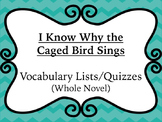 I Know Why the Caged Bird Sings Vocabulary