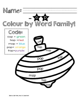 I Know Word Families : Short 'o' Review