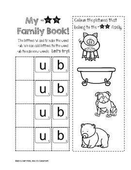 I Know Word Families : Short 'u'