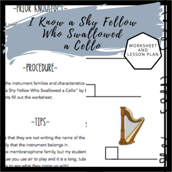 I Know a Shy Fellow Who Swallowed a Cello | Worksheet