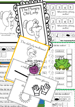 I Know an OLD LADY Literacy Companion BUNDLE  (6 resources)