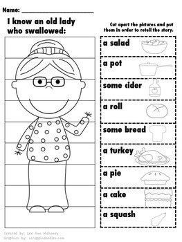I Know an Old Lady Thanksgiving Sequencing