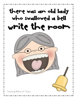 I Know an Old Lady Who Swallowed a Bell Write the Room