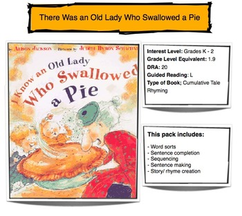 I Know an Old Lady Who Swallowed a Pie - Activities