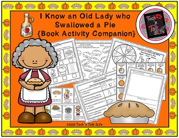 I Know an Old Lady Who Swallowed a Pie Book Activity Companion