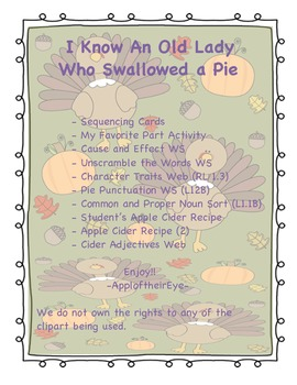 I Know an Old Lady Who Swallowed a Pie  (CC ALIGNED)