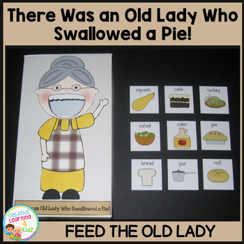 I Know an Old Lady Who Swallowed a Pie! Cut-Out Activity