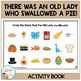 I Know an Old Lady Who Swallowed a Pie! Cut & Paste Book
