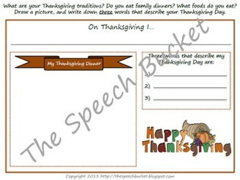 I Know an Old Lady Who Swallowed a Pie - Language Packet (Thanksgiving)