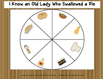 I Know an Old Lady Who Swallowed a Pie Math Unit