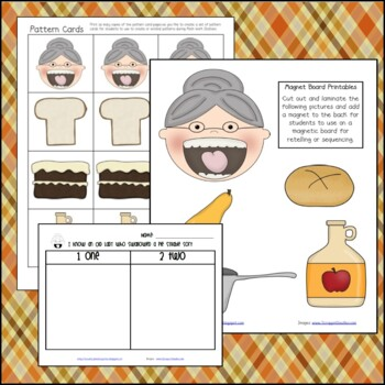 I Know an Old Lady Who Swallowed a Pie Mini Math and Literacy Unit Thanksgiving