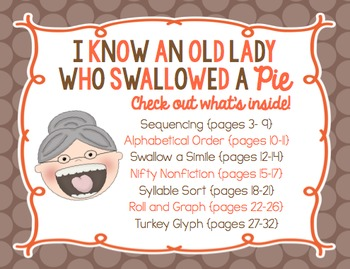 I Know an Old Lady Who Swallowed a Pie! {Mini Unit}