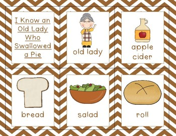 I Know an Old Lady Who Swallowed a Pie {Thanksgiving story mini unit}