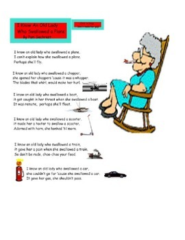I Know an Old Lady Who Swallowed a Train-Interactive Transportation Activity