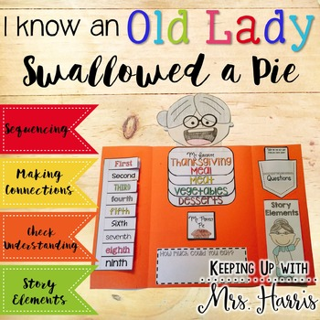 I Know an Old Lady who Swallowed a Pie Lapbook