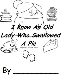 I Know and Old Lady Who Swallowed a pie adapted book and manipulative