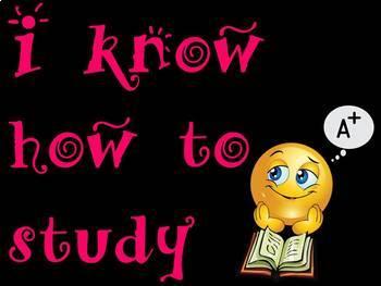 I Know how to study