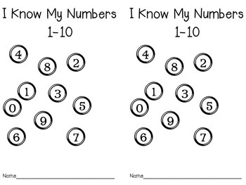 I Know my Numbers 1-10 Book