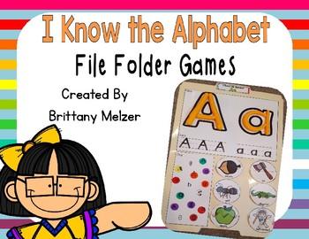 I Know the Alphabet File Folders