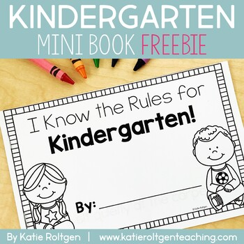 I Know the Rules for Kindergarten Mini-Book
