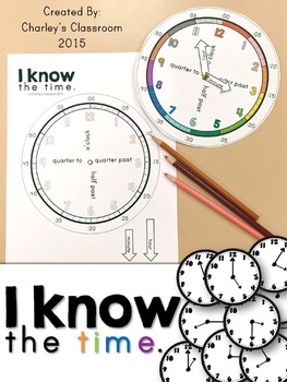 I Know the Time - Clock Manipulative/Telling Time (Math)