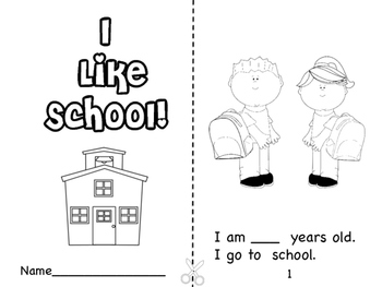 I LIke School! Booklet