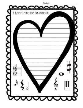 I LOVE MUSIC BECAUSE... (PERFECT FOR VALENTINE'S DAY!)
