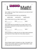 Valentine I LOVE Math Activity!