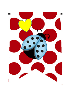 I LOVE My Students! Ladybugs and Hearts Pennant Banner