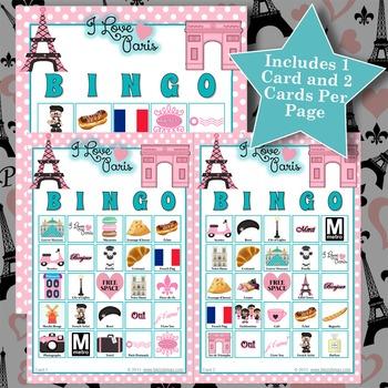 I LOVE PARIS 5x5 BINGO