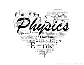 I LOVE Physics! FREE Poster, Logo, Title Page Graphic!
